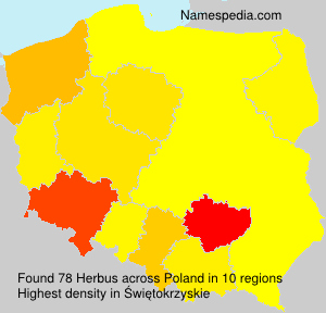 Surname Herbus in Poland