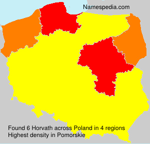 Surname Horvath in Poland