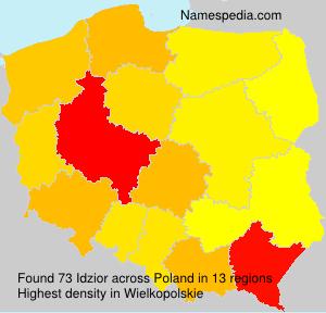 Surname Idzior in Poland