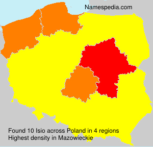 Surname Isio in Poland