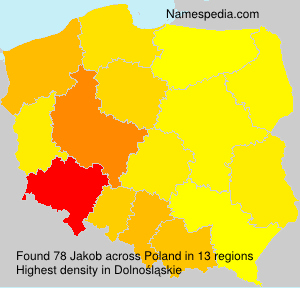 Surname Jakob in Poland