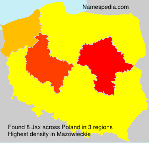 Surname Jax in Poland
