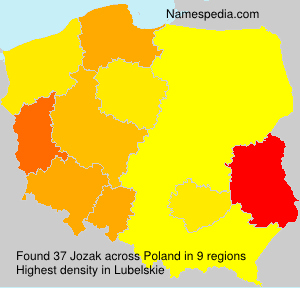 Surname Jozak in Poland