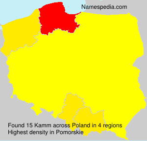 Surname Kamm in Poland