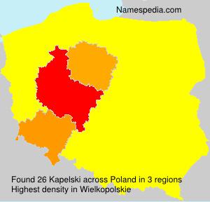 Surname Kapelski in Poland