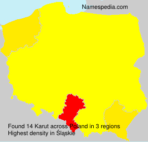 Surname Karut in Poland