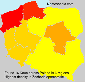 Familiennamen Kaup - Poland