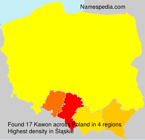 Surname Kawon in Poland