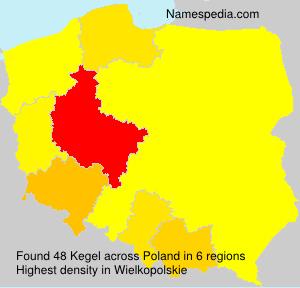 Familiennamen Kegel - Poland
