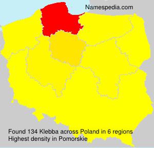 Familiennamen Klebba - Poland