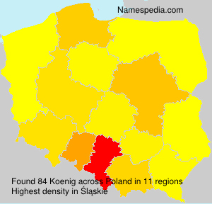 Surname Koenig in Poland