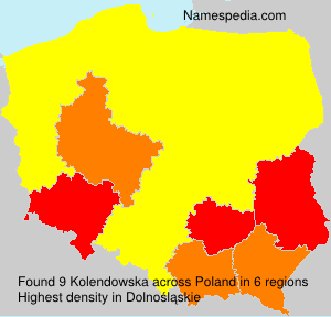 Surname Kolendowska in Poland