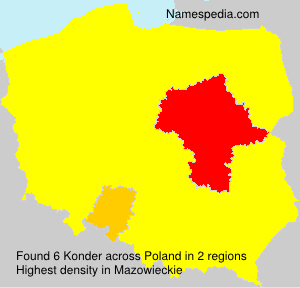 Surname Konder in Poland