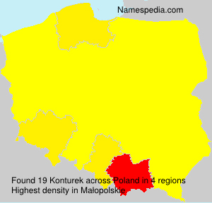 Surname Konturek in Poland