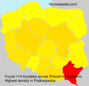 Surname Kozdeba in Poland