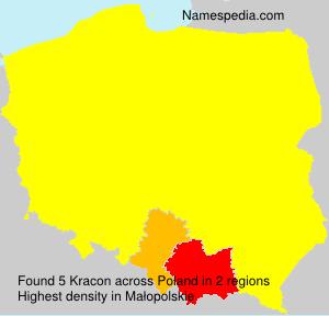 Surname Kracon in Poland