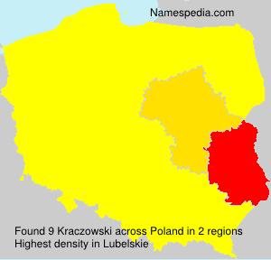 Surname Kraczowski in Poland