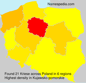 Surname Kriese in Poland
