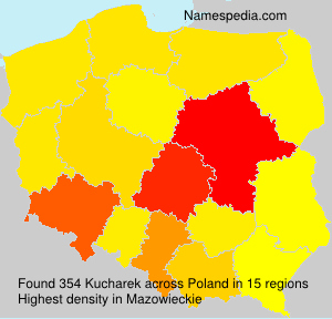 Surname Kucharek in Poland