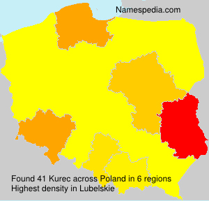 Surname Kurec in Poland