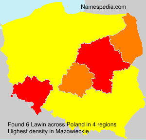 Surname Lawin in Poland