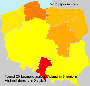 Surname Leonard in Poland