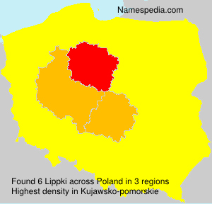 Surname Lippki in Poland