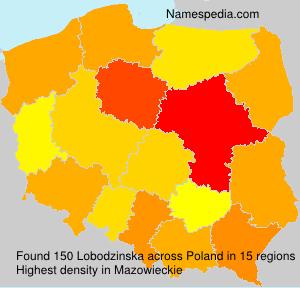 Familiennamen Lobodzinska - Poland