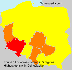 Surname Lor in Poland