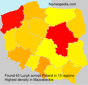 Surname Lucyk in Poland