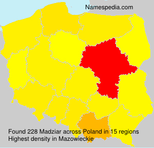 Surname Madziar in Poland