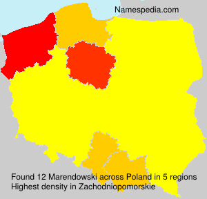 Surname Marendowski in Poland