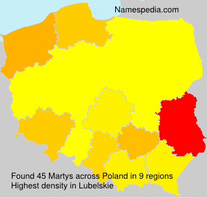 Surname Martys in Poland