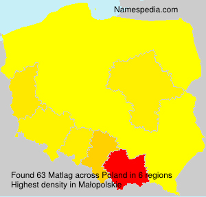 Surname Matlag in Poland