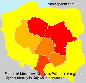 Surname Mechelewski in Poland
