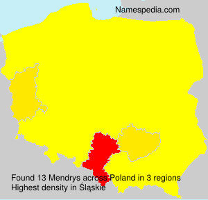 Surname Mendrys in Poland