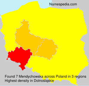 Surname Mendychowska in Poland