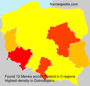 Surname Merwa in Poland