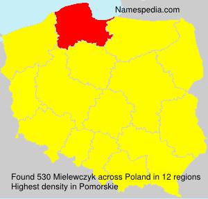 Familiennamen Mielewczyk - Poland