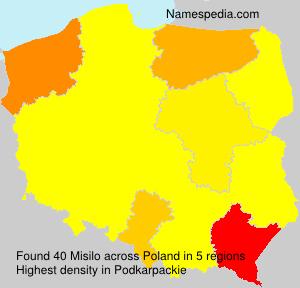 Familiennamen Misilo - Poland