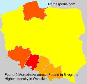 Familiennamen Morozinska - Poland