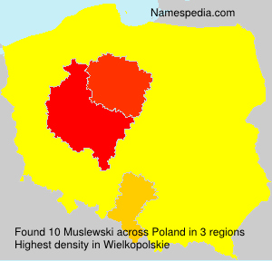 Surname Muslewski in Poland