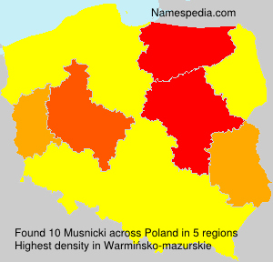 Surname Musnicki in Poland