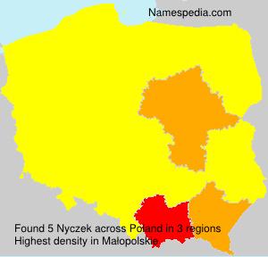 Familiennamen Nyczek - Poland
