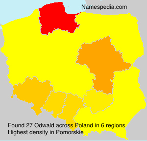 Surname Odwald in Poland