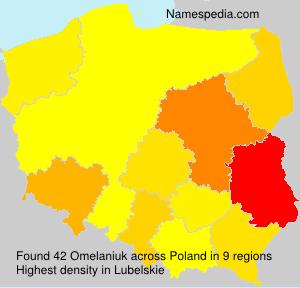 Surname Omelaniuk in Poland