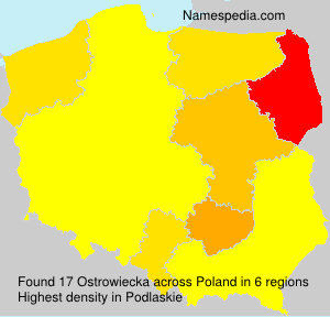 Surname Ostrowiecka in Poland