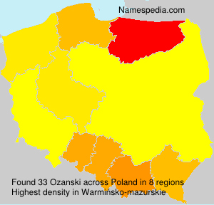 Surname Ozanski in Poland