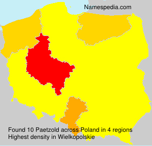 Surname Paetzold in Poland