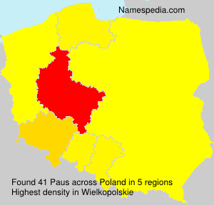 Surname Paus in Poland